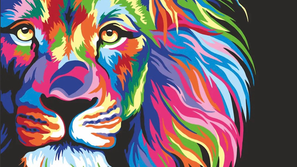 Rainbow Lion - Paint by Numbers kit