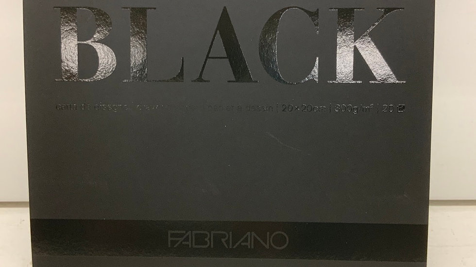Fabriano Black Black Drawing Paper
