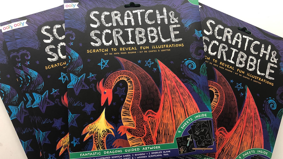 Scratch and Scribble dragon fantasy kit