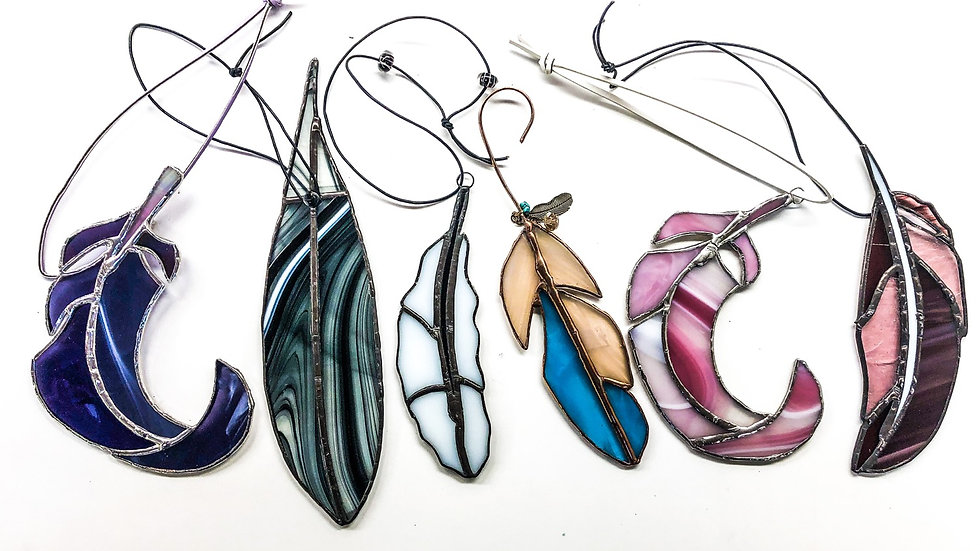 Feather Suncatchers: beginners stained glass January 17th