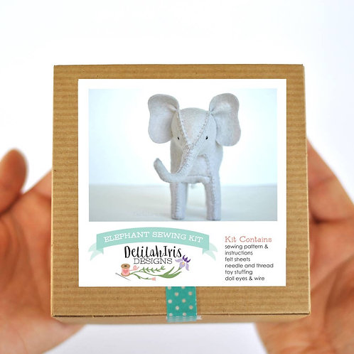 Elephant diy hand sewing kit