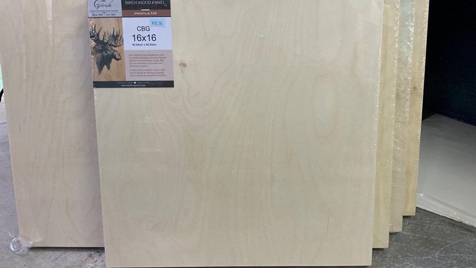 Birch Wood Panel - 16x16