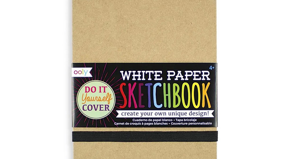 5.5 x 7.5 sketch book with DIY cover