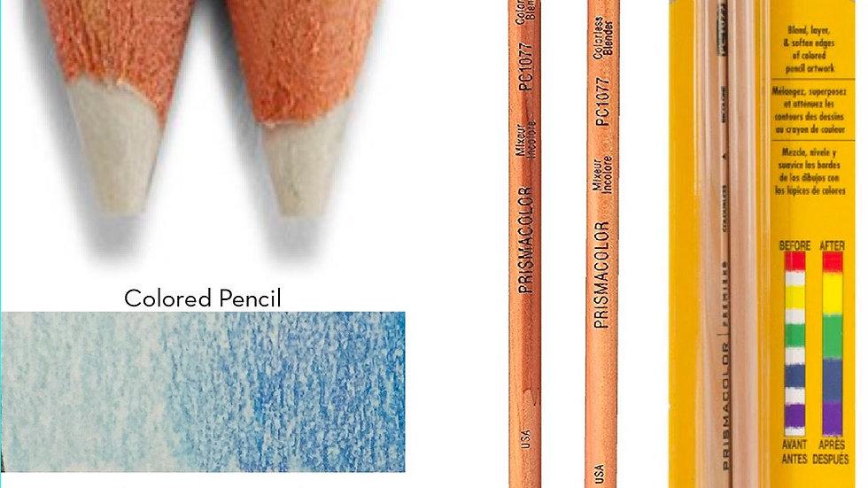 Colourless blender for coloured pencils