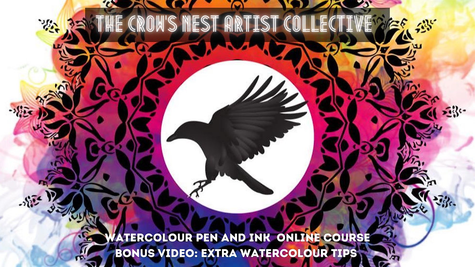 Beginners watercolour pen and ink  online class