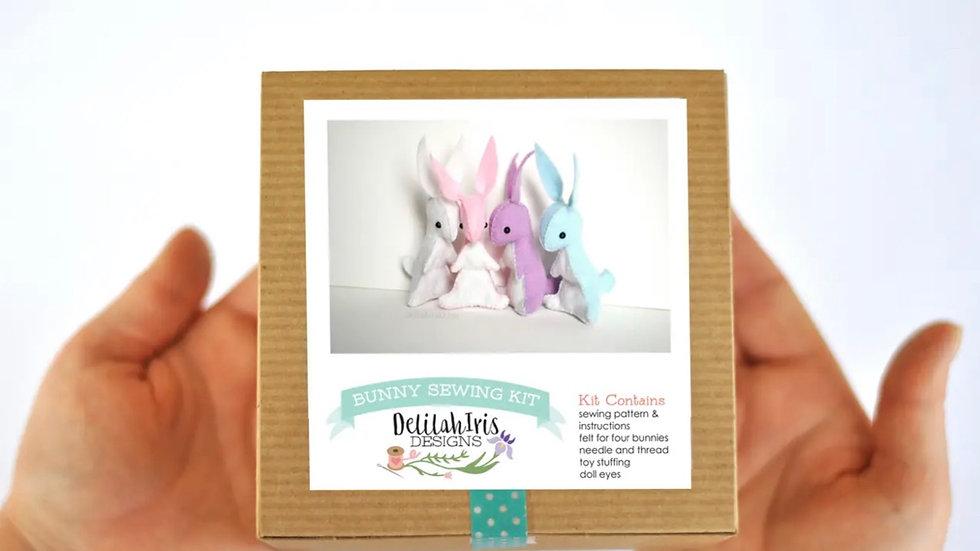 Bunny hand stitching kit