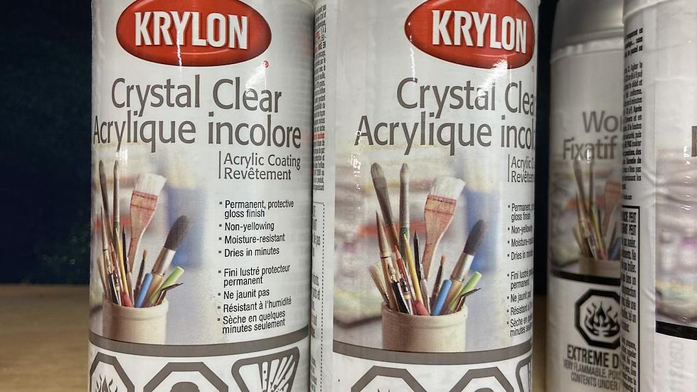 Krylon Crystal Clear Acrylic Sealer/Varnish - 312g