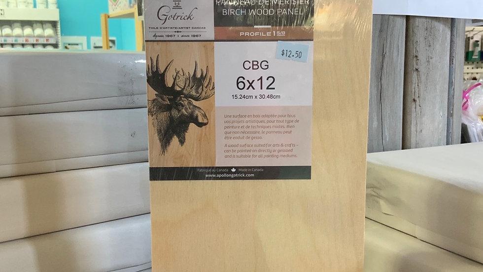 Birch Wood Panel - 6x12