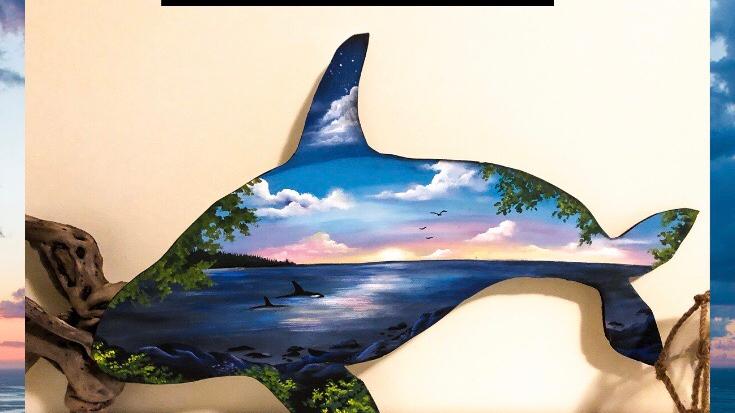 An orcas life DIY art kit