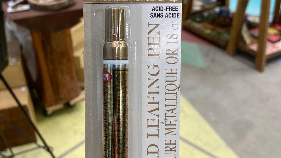 18k gold leafing pen acid free