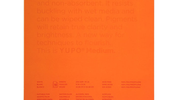 Yupo 9x12 art pad
