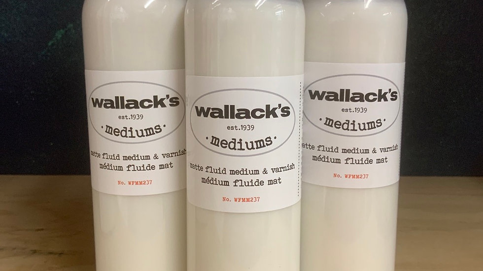 Wallack's Matte Fluid Medium & Varnish