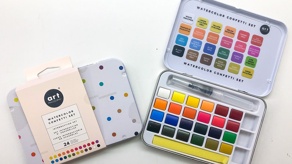 Watercolour confetti set - Artist grade