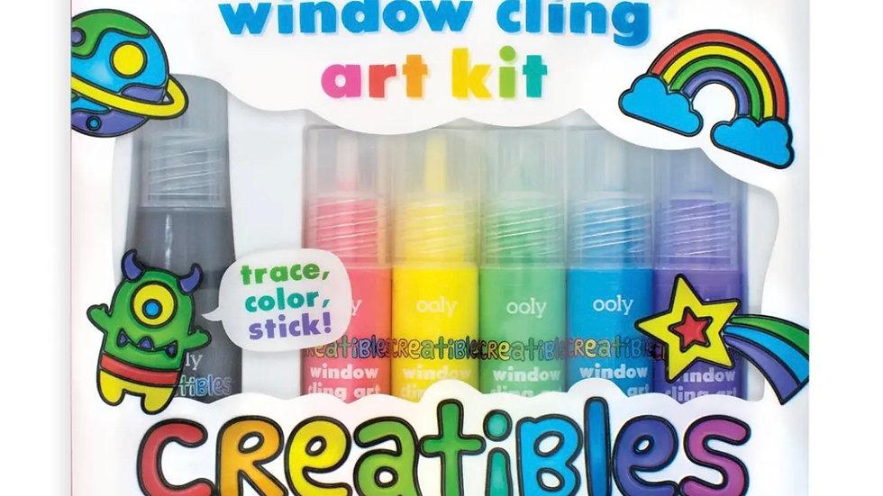 Window cling art kit