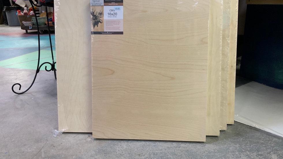 Birch Wood Panel - 16x20