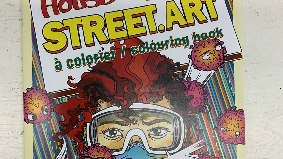 House of Paint Street.Art Colouring Book