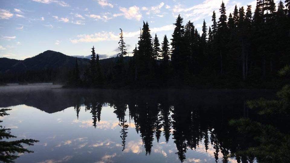 Landscape reflections in acrylics November 22nd