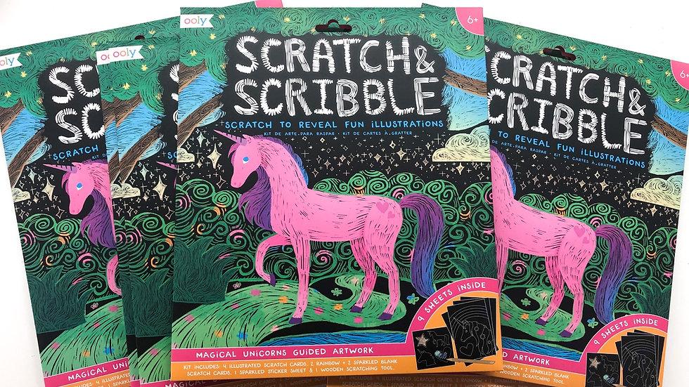 Scratch and scribble unicorn art kits