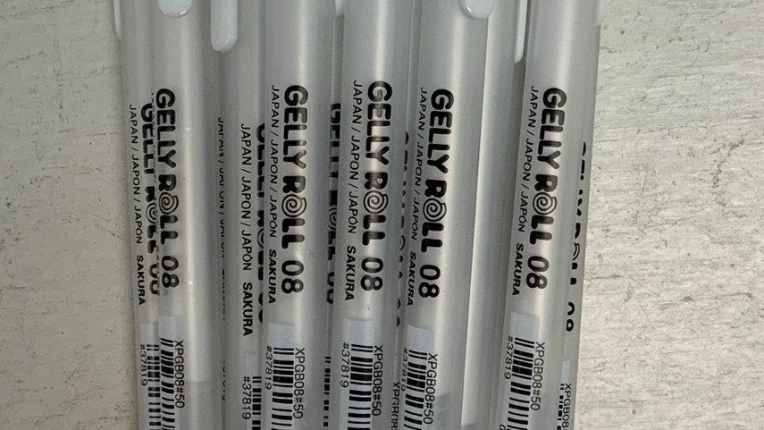 Gelly Roll White Gel Pens 08