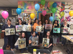 Mixed Media Paint Party