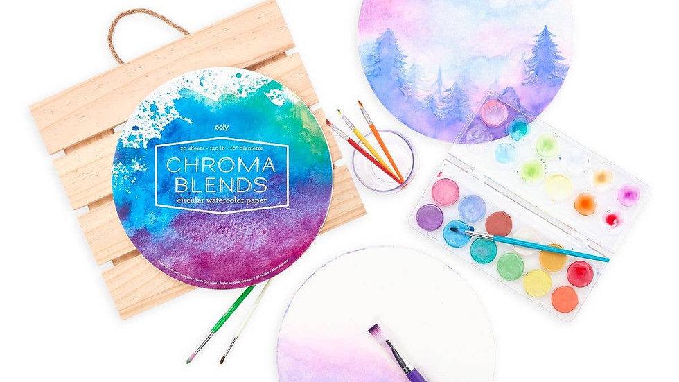 Chroma blends circular watercolour pad