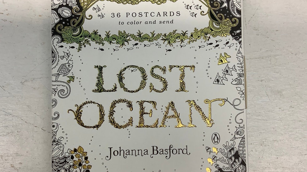 36 postcards to colour and send - Lost Ocean