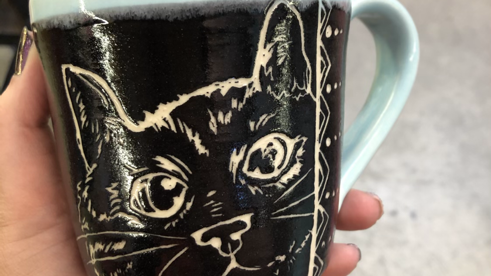 Mug making class :Scrafito February 16th