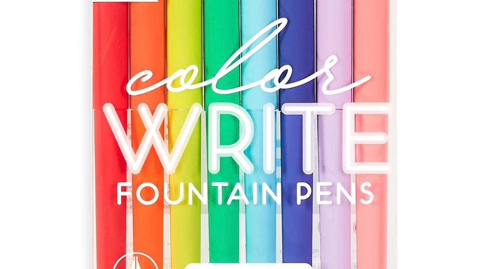 Color Write Fountain Pens