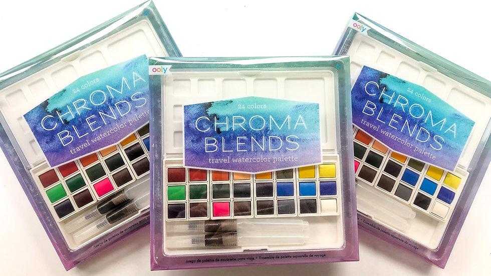 Chroma Blends travel watercolour set