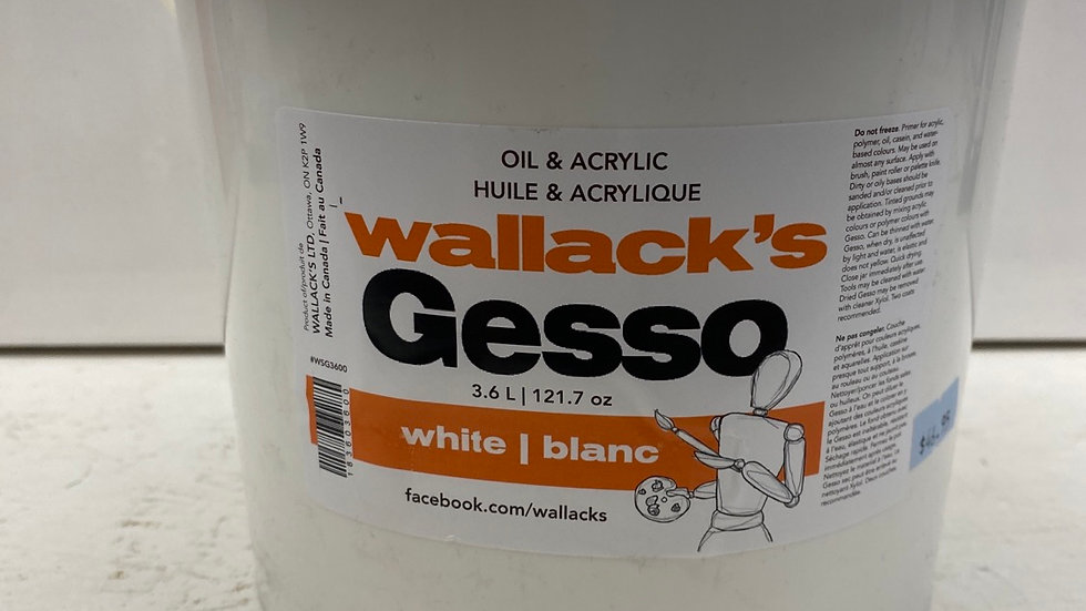 Wallack's White Gesso 3.6L