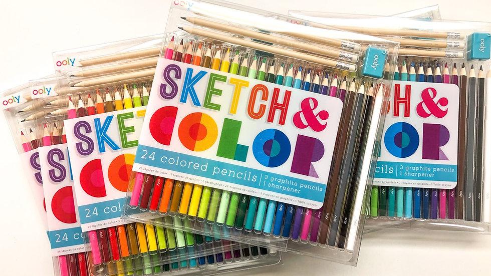 Ooly Sketch & Color set of 24