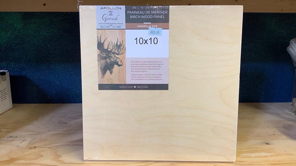 Birch Wood Panel - 10x10