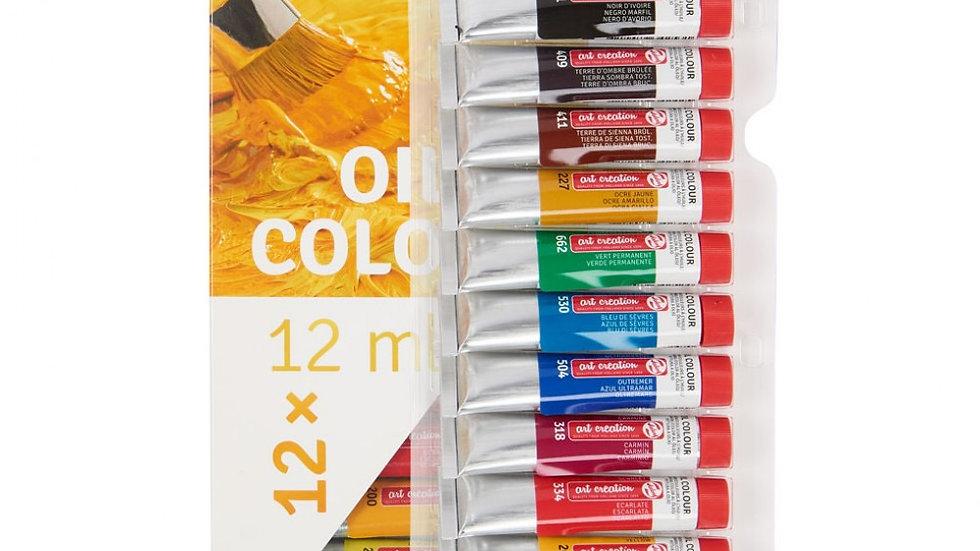 Art creations set of oil 12 colours