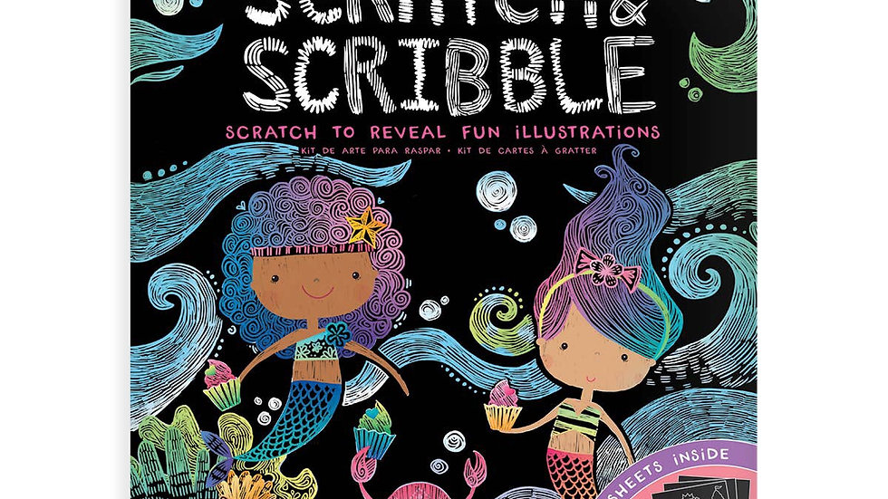 Scratch and scribble mermaid kit