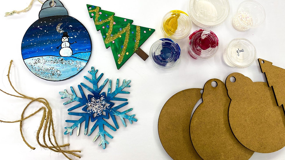DIY Christmas ornaments take home kit
