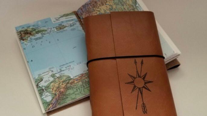 Travel journal sketch book
