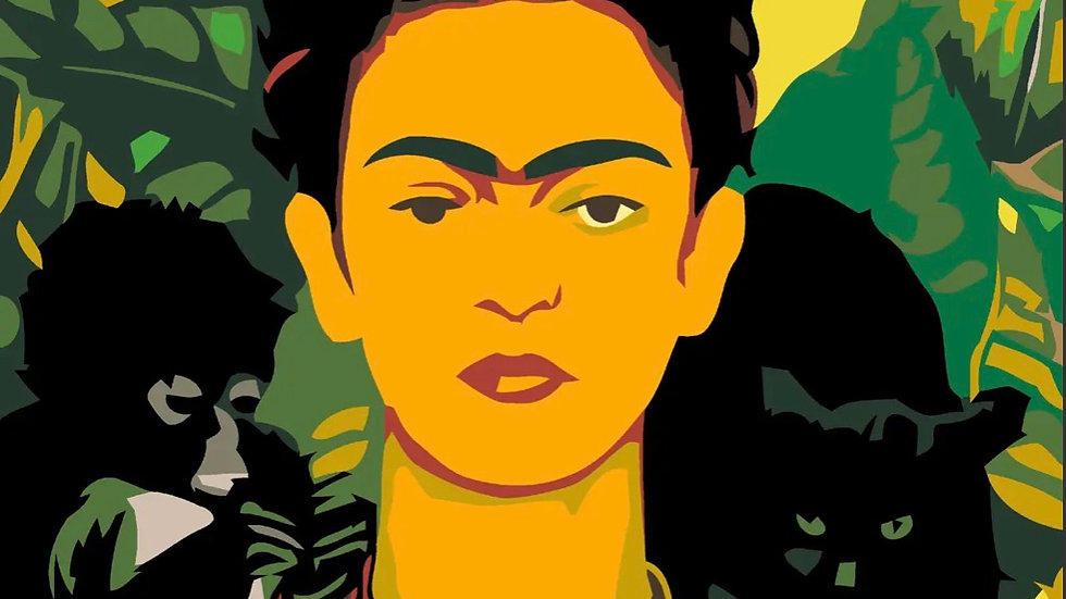 Frida paint by numbers kit