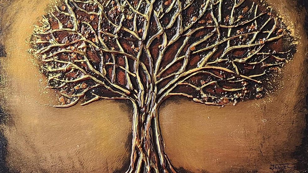 Tree of life mixed media textures June 6th