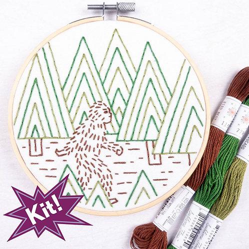 Sasquatch embroidery kits
