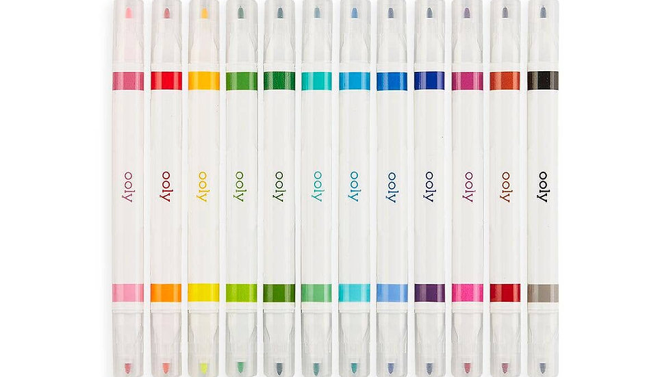 Acid free double ended art markers