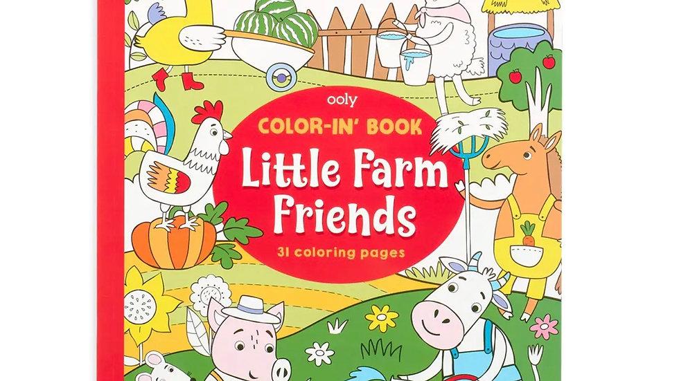 "Color-in' Book: Little Farm Friends (8"" x 10"")"