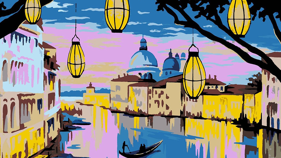 Venice paint by numbers kit