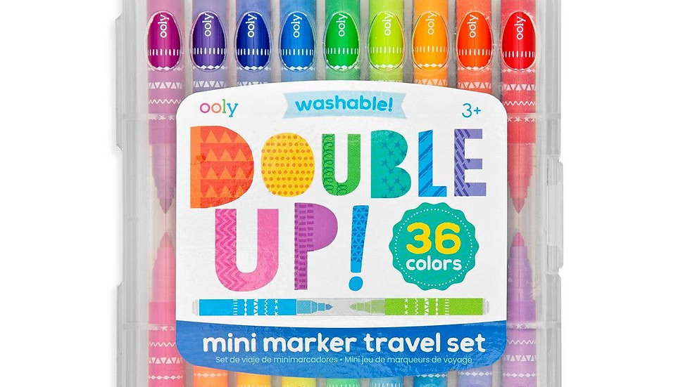 Double up mini marker travel set