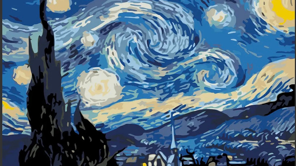 Van Gogh Starry Night - Paint by Numbers Kit