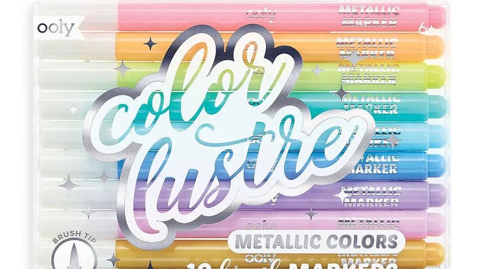 Color Lustre Metallic Brush Markers