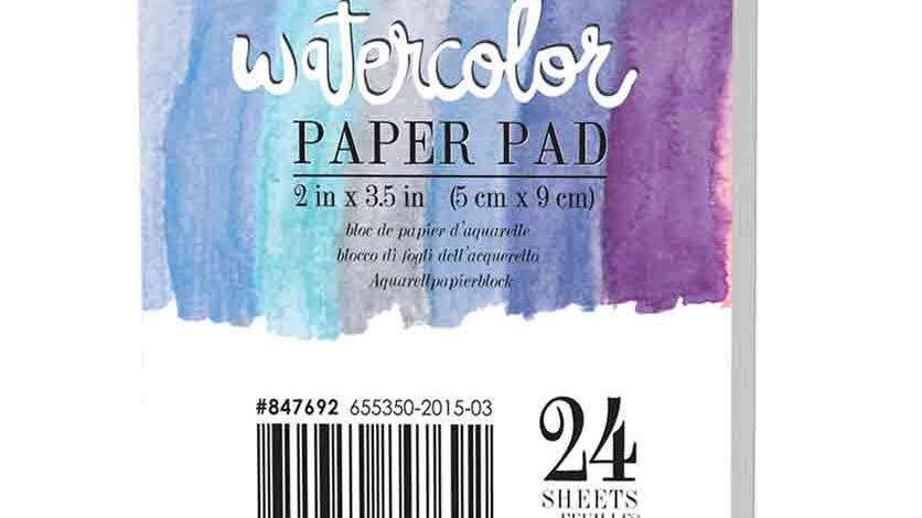 Mini watercolour pad 2 x 3.5 inches 140 lb
