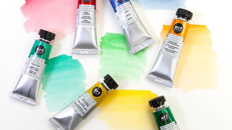 Artist grade watercolour tubes 15ml