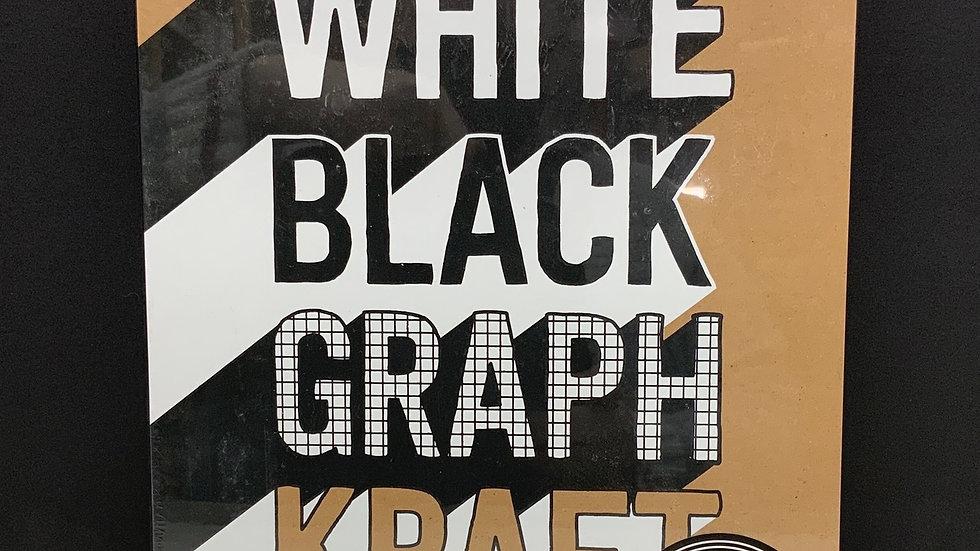 Only White Black Graph Kraft Paper