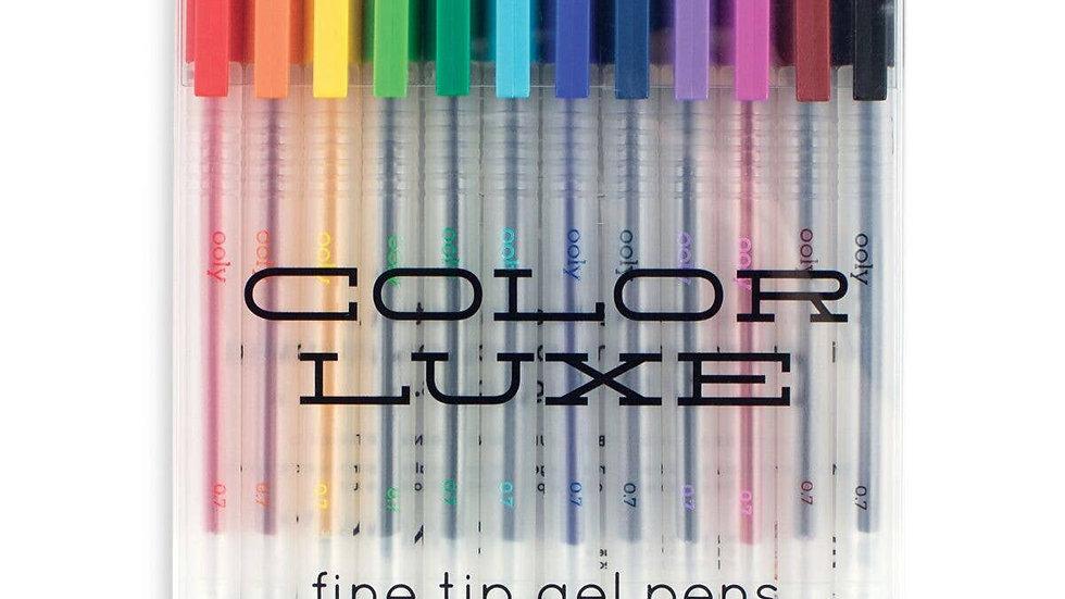 Fine tip gel pens