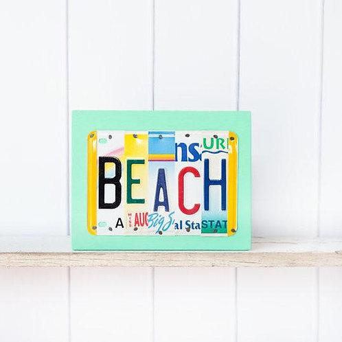 License Plate - BEACH